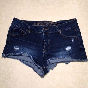 Womens Wax Jean Denim Summer Shorts Size Medium